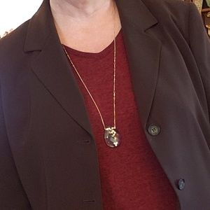 """LOFT 18""""  GOLD CHAIN BEVELED CRYSTAL NECKLACE"""